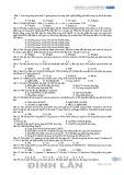 Trắc nghiệm Hóa học 10: Chương 2 - Cacbonhidrat