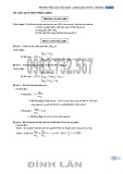 Phương pháp giải toán Amin – Amino Axit - Peptit Protein