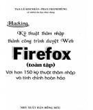 Ebook Hacking - Kỹ thuật thâm nhập thành công trình duyệt Web Firefox (toàn tập): Phần 2