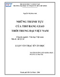 Luận văn Thạc sĩ Văn học: Những thành tựu của thơ bang giao thời trung đại Việt Nam