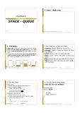Bài giảng Cấu trúc dữ liệu: Chương 5 - Trịnh Xuân