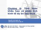 Bài giảng Lập và phân tích dự án: Chương 6 - Nguyễn Hải Ngân Hà