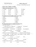 Đề thi chọn học sinh giỏi cấp Huyện môn Tiếng Anh lớp 7