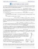 Bài tập Vật lí 12 - Nâng cao: Bài 5 - Bài tập về động lực học vật rắn