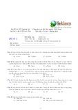 Tổng hợp đề kiểm tra phần Sóng cơ