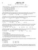 Đề kiểm tra 1 tiết môn Vật lí - 12 Nâng cao