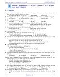 Bài tập Vật lí 12 - Nâng cao: Bài 2 - Phương trình động lực học của vật rắn quay quanh một trục cố định