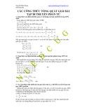 Các công thức tổng quát giải bài tập di truyền phân tử