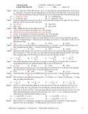 Đề luyện thi cấp tốc Con lắc lò xo (Mã đề 203)