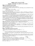Bài tập tự luận Chương 1: Động lực học vật rắn