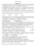Đề kiểm tra Bài 1: Động lực học vật rắn