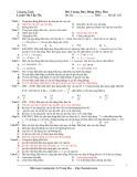 Đề thi Đại cương dao động điều hòa (Mã đề 203)