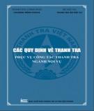 Ebook Các quy định về thanh tra phục vụ công tác thanh tra ngành nội vụ: Phần 1