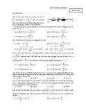 Đề thi trắc nghiệm Điện xoay chiều (Mã đề 02)