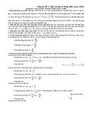 Chuyên đề 3: Đại cương về dòng điện xoay chiều