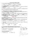 Bài tập Đại cương về dòng điện xoay chiều
