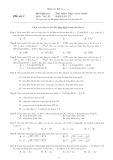 Bài kiểm tra thử phần Điện xoay chiều môn Vật lí Lớp 12