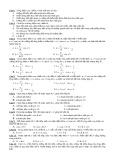 Trắc nghiệm lý thuyết Vật lí lớp 12 Chương 3
