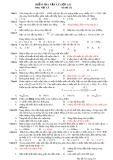 Đề kiểm tra Vật lí lớp 12 Nâng cao (Mã đề 132)