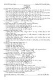 Bộ đề trắc nghiệm Sinh học 11: Chương 2 - Cảm ứng