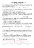 20 câu hỏi trắc nghiệm Vật lí 12 phần Điện xoay chiều