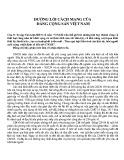 Đường lối cách mạng của Đảng Cộng sản Việt Nam: Câu 9 (Bài 2)
