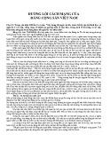 Đường lối cách mạng của Đảng Cộng sản Việt Nam: Câu 12