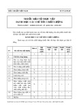 Tiêu chuẩn Việt Nam TCVN 4279:1989