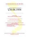 Chuyên đề Phương trình và bất phương trình: Lý thuyết sử dụng biến đổi tương đương, nâng cao lũy thừa (Phần 5)