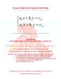 Hệ phương trình bậc nhất hai ẩn (Quyển 1)