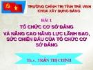 Bài giảng Tổ chức cơ sở Đảng và nâng cao năng lực lãnh đạo, sức chiến đấu của tổ chức cơ sở Đảng -  ThS. Trần Thị Chính