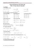 Chuyên đề về Phương trình lượng giác