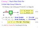 Bài giảng Kỹ thuật điện: Chương 2 - Nguyễn Kim Đính