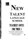 Ebook New Talent Language School Teacher's notes for TOEIC 1