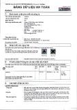 Tuân thủ quy định (EC) số 1907/2006 (REACH), Phục lục 2, Việt Nam: Bảng dữ liệu an toàn Aceton