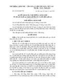Quyết định số 336/2005/QĐ-TTG