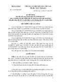 Quyết định số 61/2007/QĐ-BTC