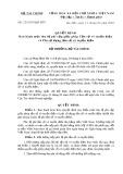 Quyết định số 22/2005/QĐ-BTC