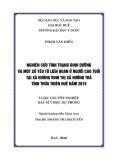 Luận văn tốt nghiệp bác sĩ  Y khoa dự phòng: Nghiên cứu tình trạng dinh dưỡng và một số yếu tố liên quan ở người cao tuổi tại xã Hương Vinh thị xã Hương Trà tỉnh thừa thiên Huế năm 2015