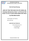 Luận văn Thạc sĩ Sinh học: Khảo sát tính thích nghi của cây hoàng lan [Cananga Odorata (lam.) hook. f. et thomson] tạo được từ các kỹ thuật nhân giống khác nhau tại tỉnh Bình Phước