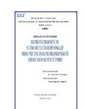 Khóa luận tốt nghiệp: Vai trò của tham số tự do và tính hội tụ của sơ đồ vòng lặp trong việc ứng dụng phương pháp toán tử cho bài toán nguyên tử hyđro