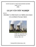 Luận văn tốt nghiệp: Tìm hiểu và tính toán các thông số cơ bản của lò phản ứng hạt nhân