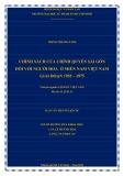 Luận án Tiến sĩ Lịch sử: Chính sách của chính quyền Sài Gòn đối với người Hoa ở miền Nam Việt Nam giai đoạn 1955 – 1975