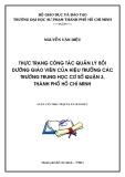 Luận văn Thạc sĩ Quản lý giáo dục: Thực trạng công tác quản lý bồi dưỡng giáo viên của hiệu trưởng các trường trung học cơ sở quận 3, thành phố Hồ Chí Minh