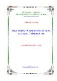 Luận văn Thạc sĩ Địa lí học: Thực trạng và định hướng sử dụng lao động ở tỉnh Bến Tre