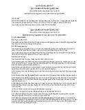 Quy chuẩn kỹ thuật quốc gia QCVN 33:2011/BGTVT