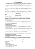 Quy chuẩn kỹ thuật Quốc gia QCVN 53:2014/BTNMT