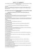 Quy chuẩn kỹ thuật Quốc gia QCVN 01-172:2014/BNNPTNT