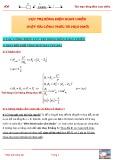 Cực trị dòng điện xoay chiều (một vài công thức và mẹo nhỏ)