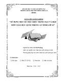 Sáng kiến kinh nghiệm: Sử dụng một số trò chơi trong dạy và học môn Giáo dục quốc phòng - an ninh lớp 10